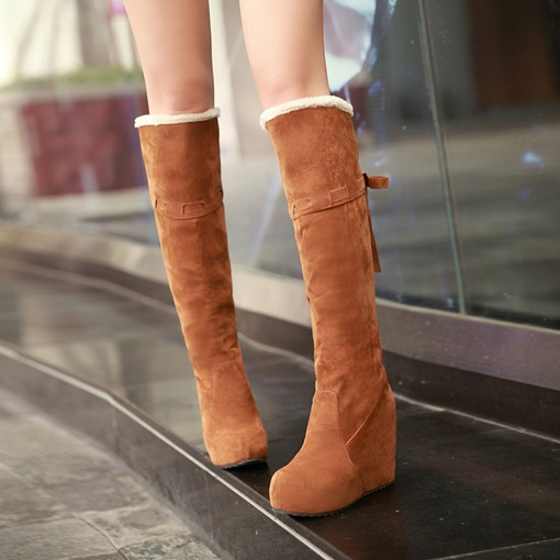 Lace Up Heigh Icreasing Shoes Platform Boots