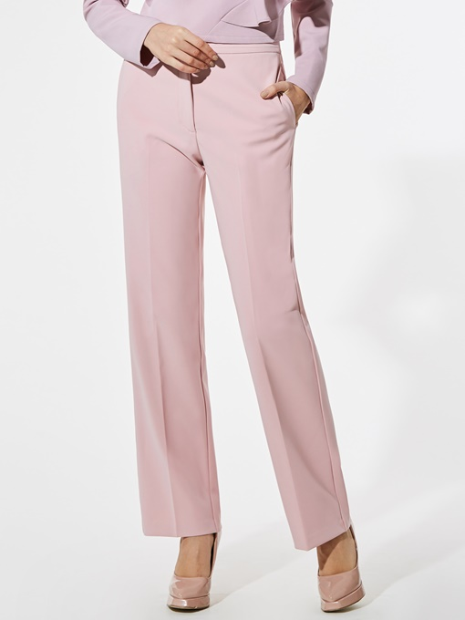 Plain Straight Full Length Women' s Pants