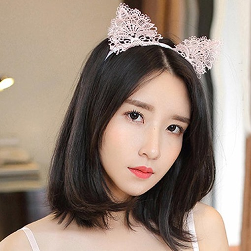 Hollow Out Lace Cat Ears Sexy Halloween Hair Accessories