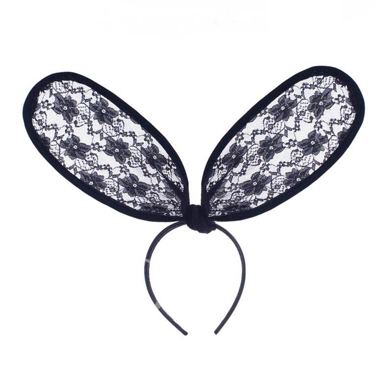 Big Rabbit Ears Lace Collapsible Halloween Hair Accessories