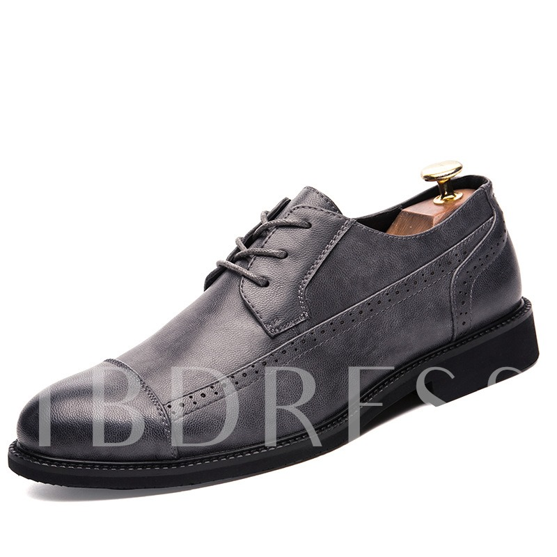 Men's Lace Up Block Heel Professional Shoes
