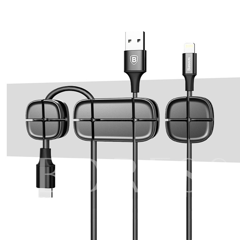 BASEUS Magnetic Cord Clips,Desk Cable Holder for USB Cables/Charging Cables
