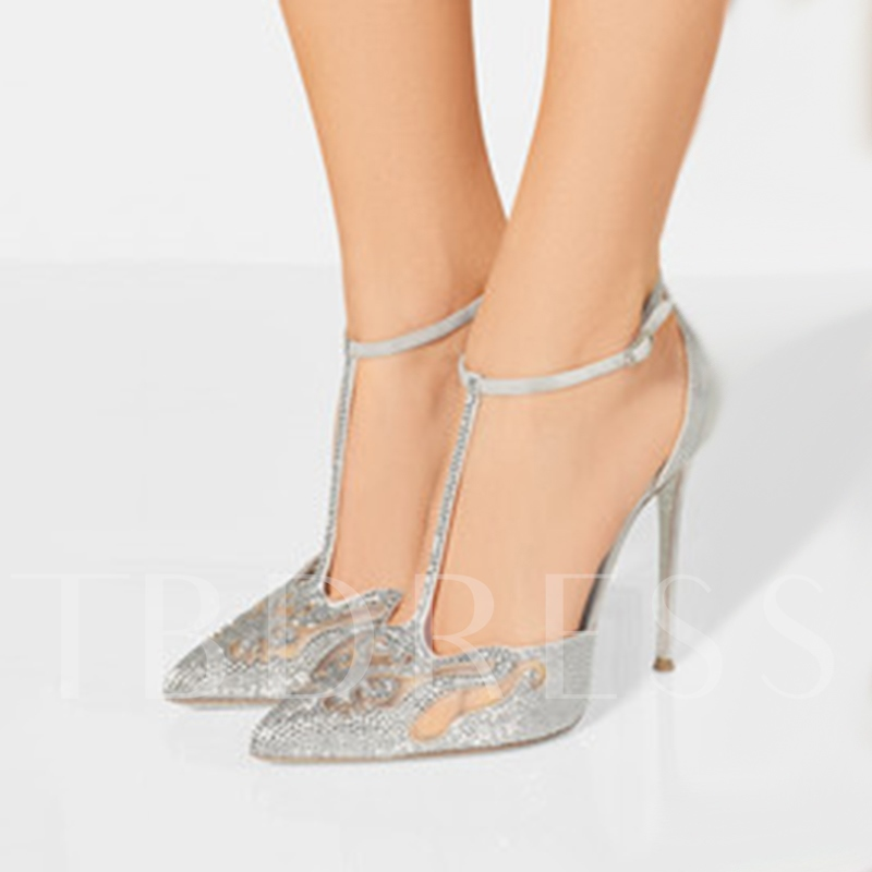 Buy Plus Size Shoes Sliver Women's High Heel Pumps, Sheshoe, Spring,Summer,Fall, 13001014 for $84.99 in TBDress store
