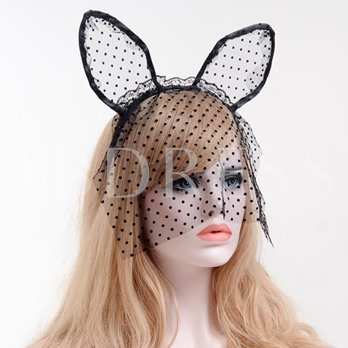 Wave Point Lace Cat Ears Manual Halloween Hair Accessories