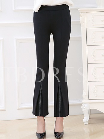Plus Size Pleated Women's Casual Pants