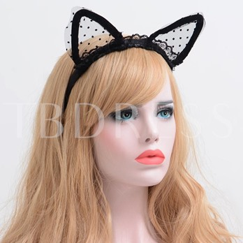 Velvet Ribbon Cat Ears Lace Sexy Halloween Hair Accessories