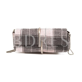 Individual Meta Long Type Woolen Shoulder Bag