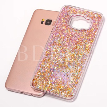 Samsung S8/S8 Plus Case,3D Bling Quicksand Shell