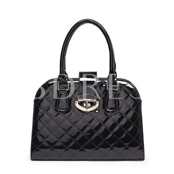 Glossy Embossing Solid Color Women Tote