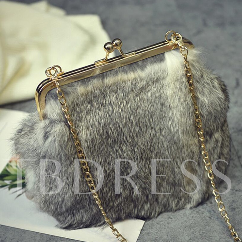 Casual Solid Color Soft Plush Cross Body