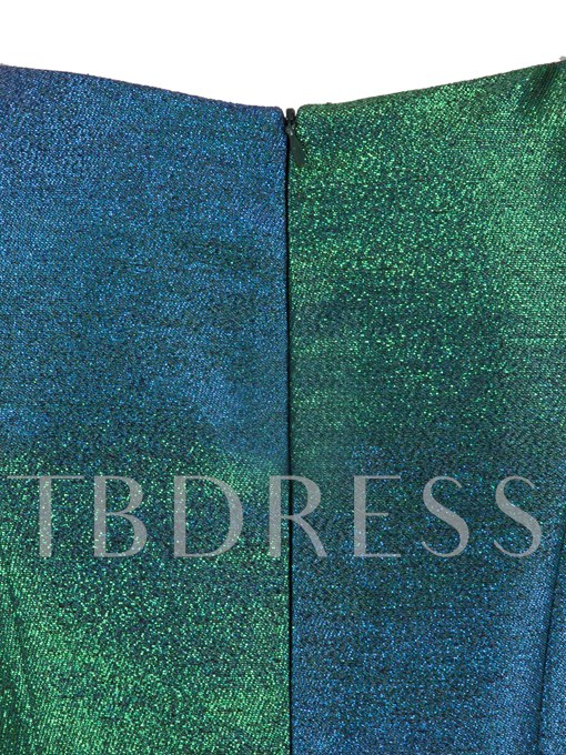 Color Block Sequins Sleeveless Women's Day Dress
