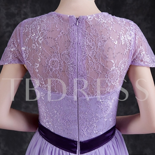 A-Line Sweetheart Sashes Lace Pleats Evening Dress