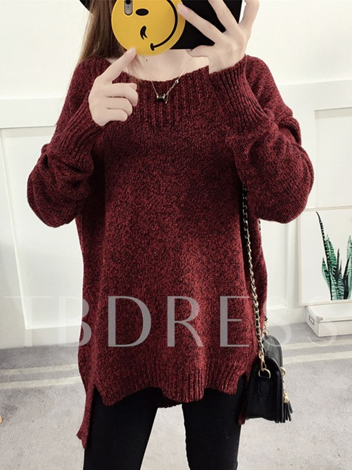 Asymmetric Batwing Sleeve Women's Sweater