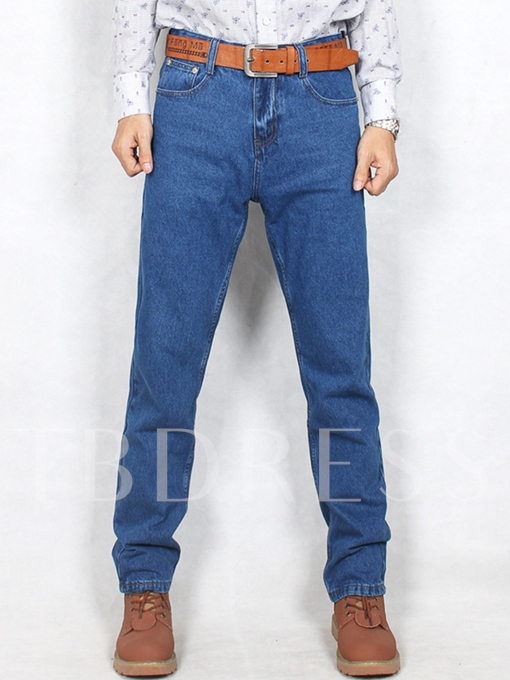 Classic Cotton Straight Loose Smart and Casual Men's Jeans