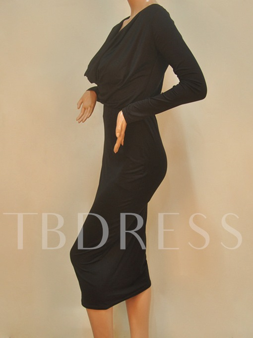 V-Neck Pleated Women's Skirt Suit