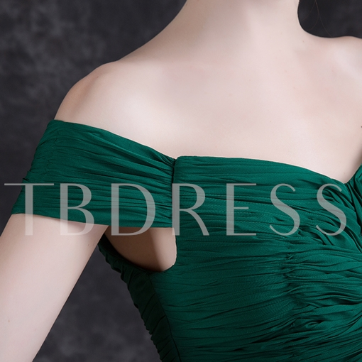 A-Line Off-the-Shoulder Pleats Sashes Evening Dress