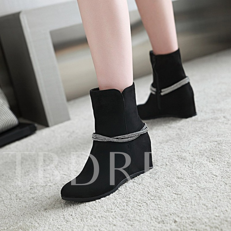 Plus Size Shoes Height Increasing Boots for Women