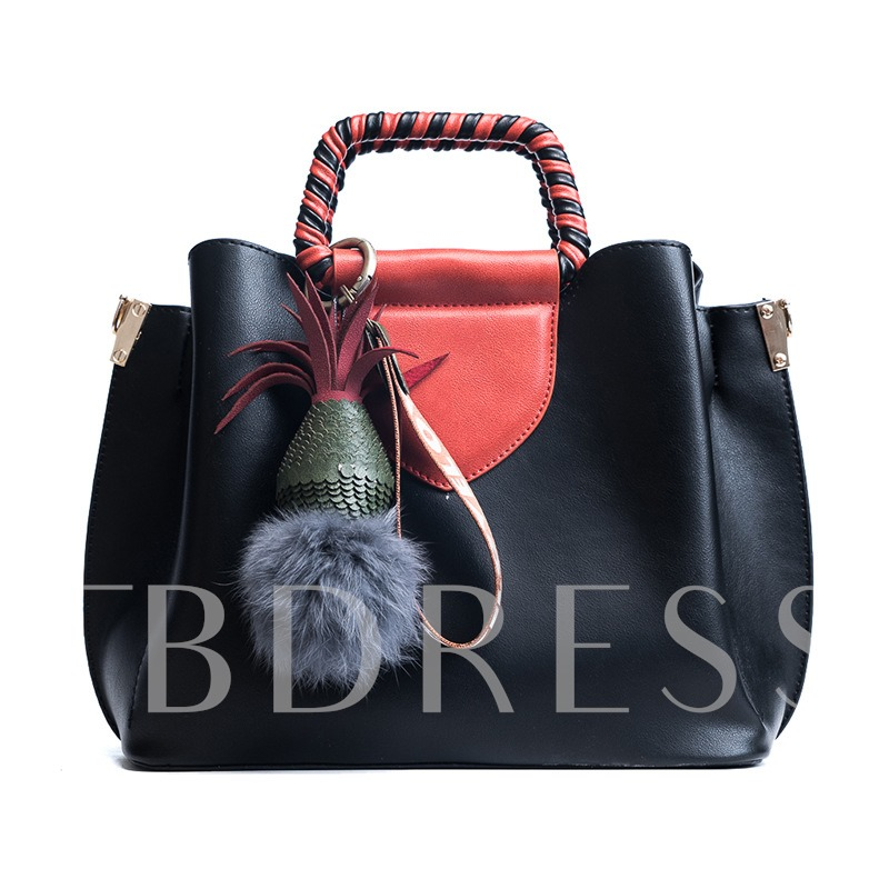 Fashion Color Block Bucket Women Tote