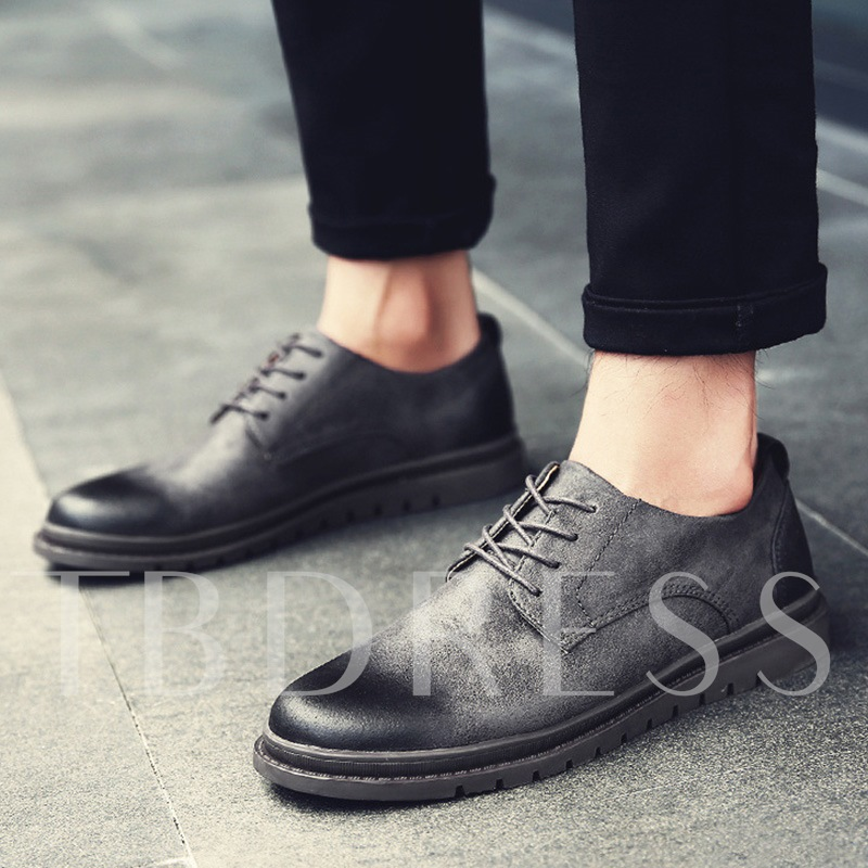 PU Brush Off Lace Up Men's Professional Shoes