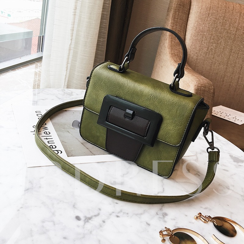 Korean Style Color Block Women Cross Body