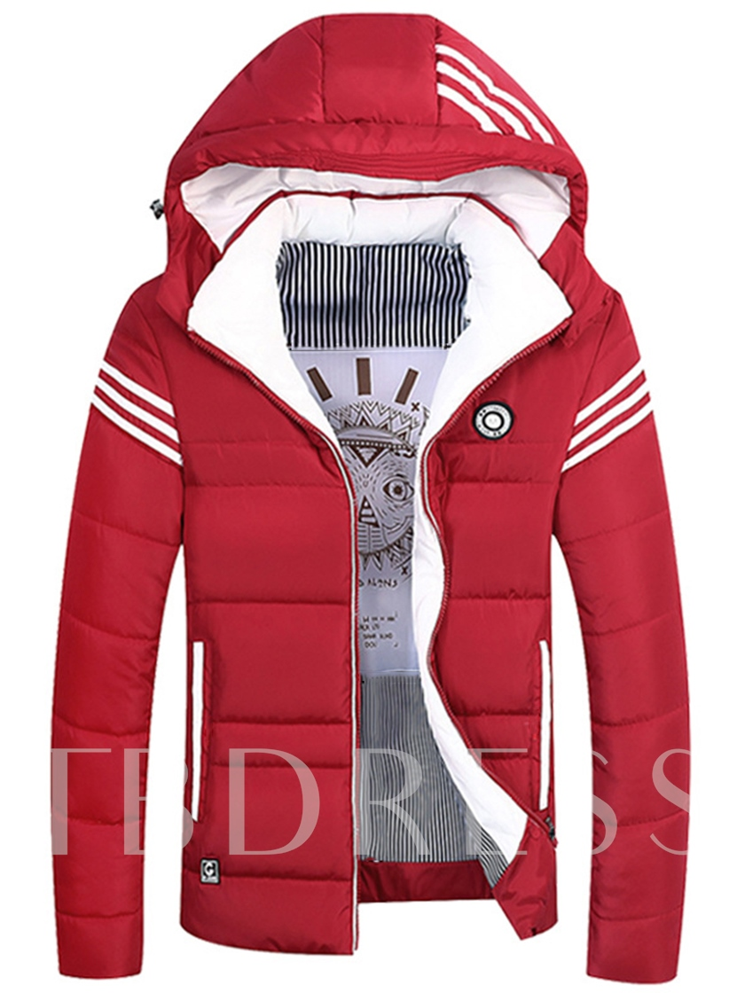 Hooded Thicken Warm Zipper Slim Men's Winter Jacket