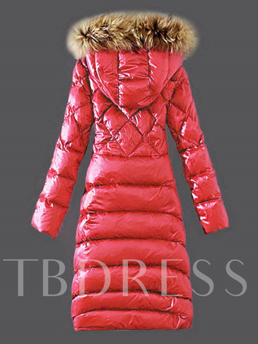 Faux Fur Hooded Long Warm Thicken Women's Winter Overcoat