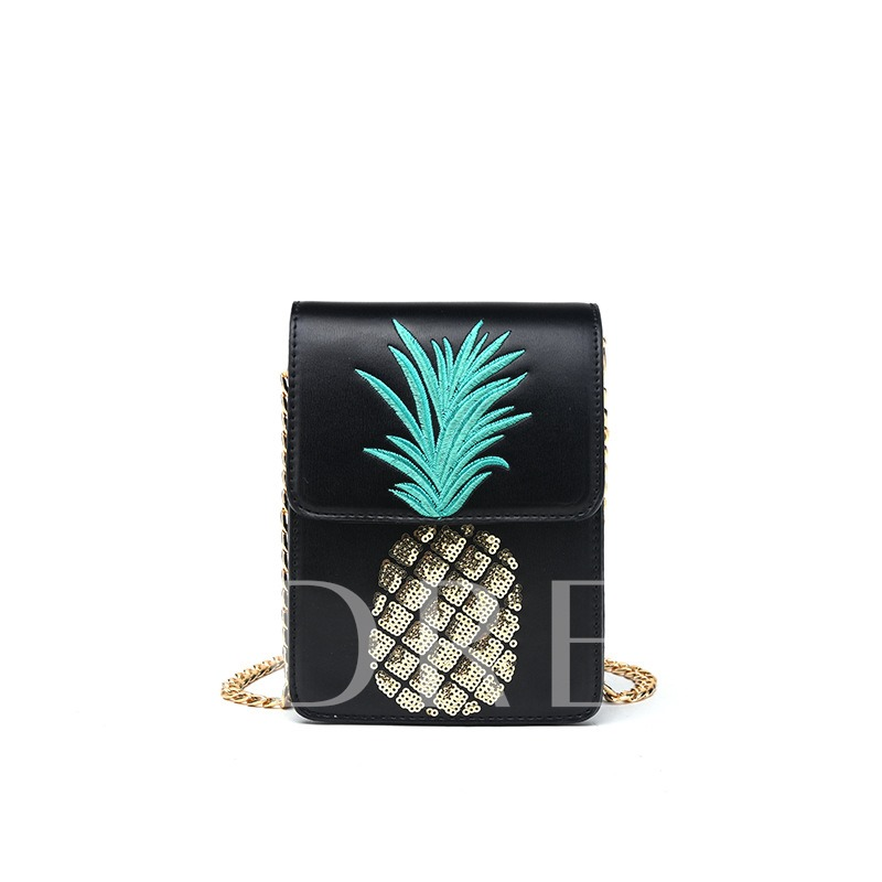 Embroidery Beads Pineapple Design Cross Body
