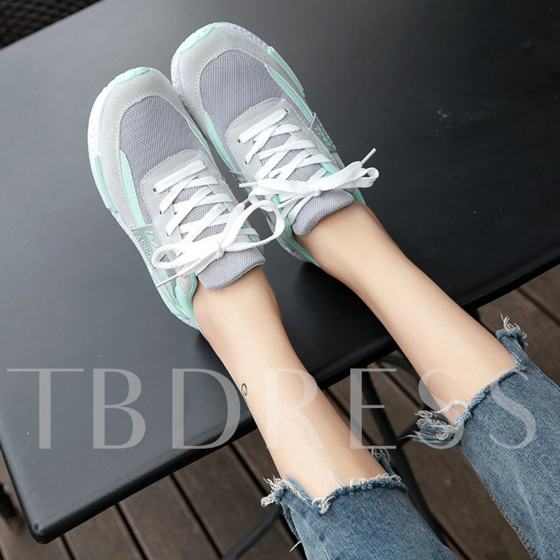 Lace Up Color Block Women's Platform Sneakers