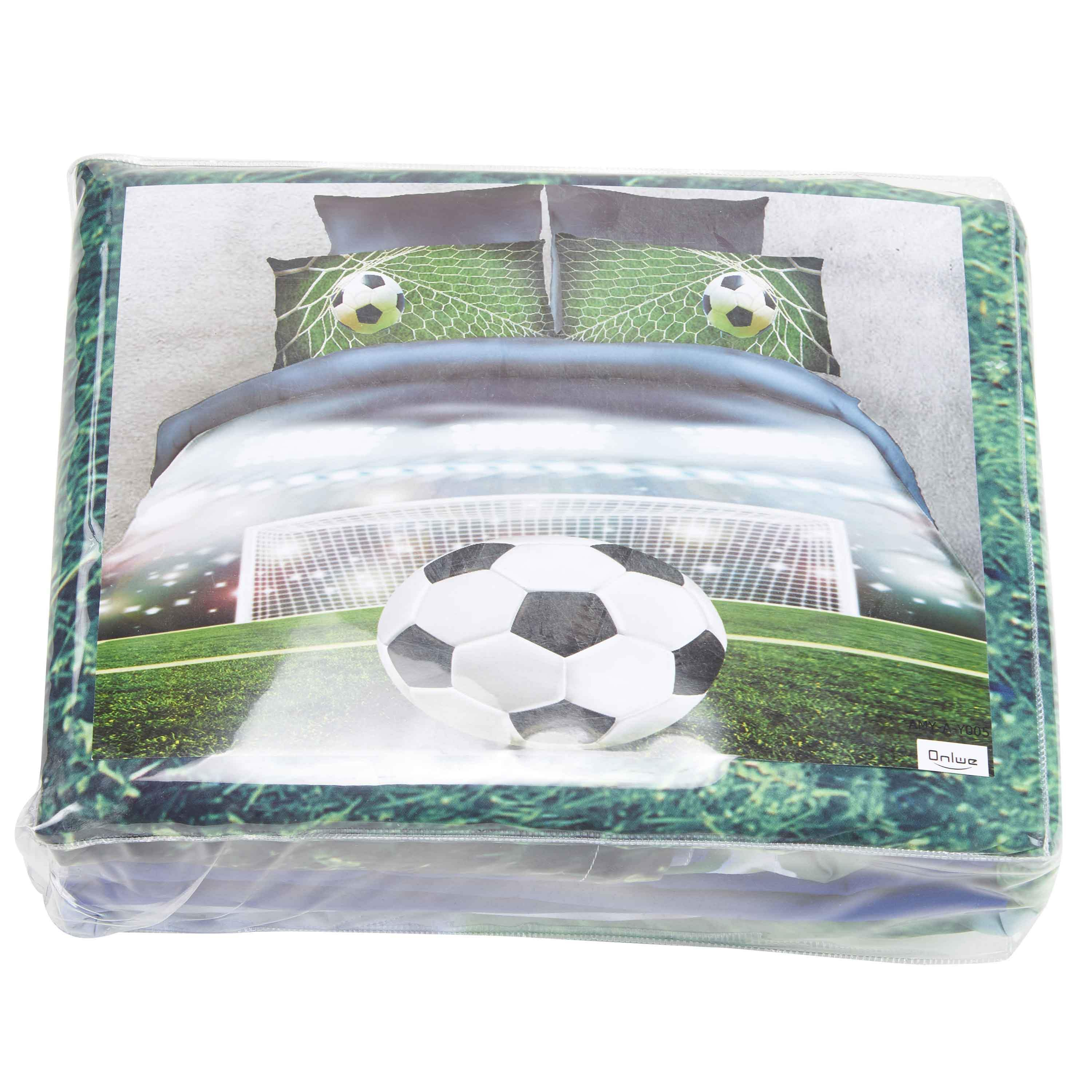 Soccer Ball in front of Goal Printed 3D 4-Piece Bedding Sets/Duvet Covers