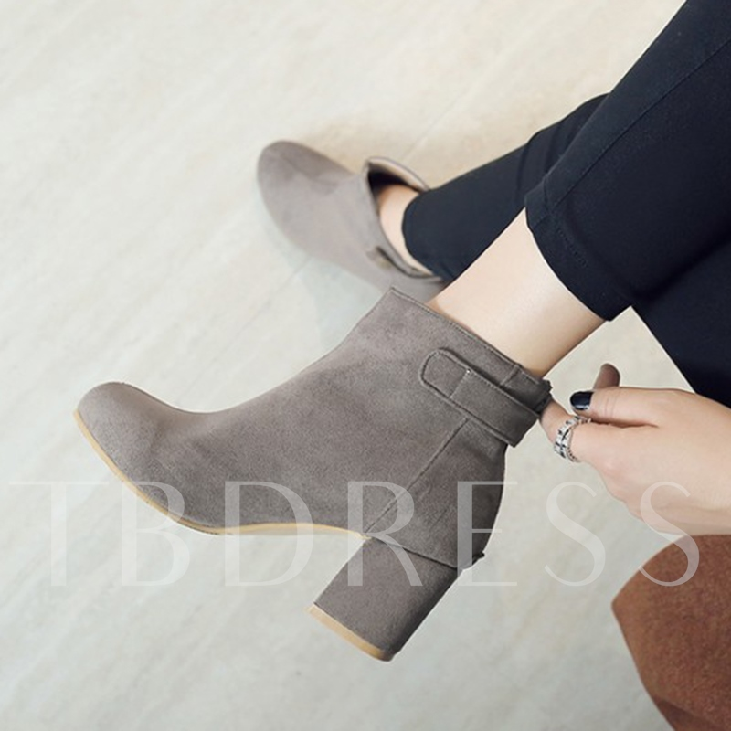 Multiple Color Chunky Heel Women's Ankle Boots