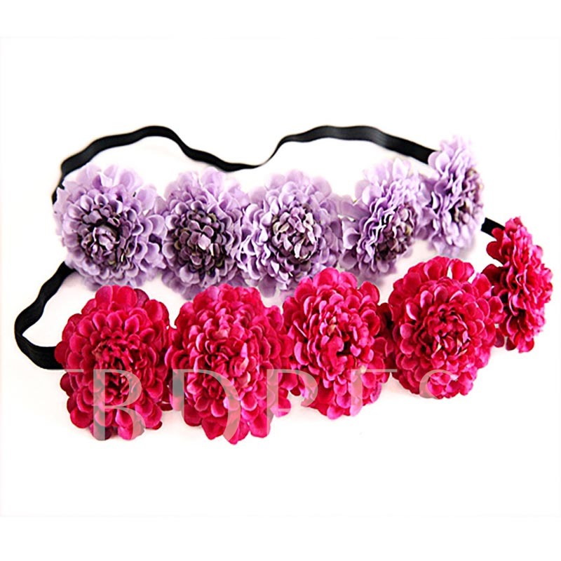 Garland Black Rope Plain Holiday Hair Accessories