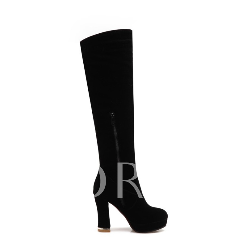 Plus Size Platform Shoes Dragonfly Sequin Women's Over the Knee Boots