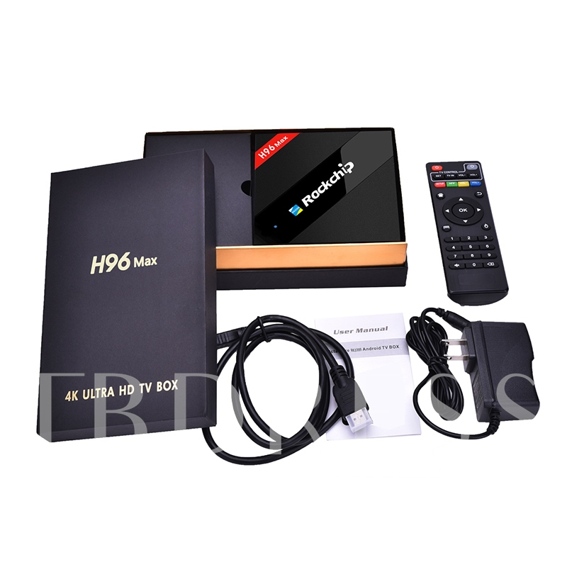 H96 Max 4K TV Box Six-core RAM 2G ROM 16G Dual-frequency Wifi Support Kodi