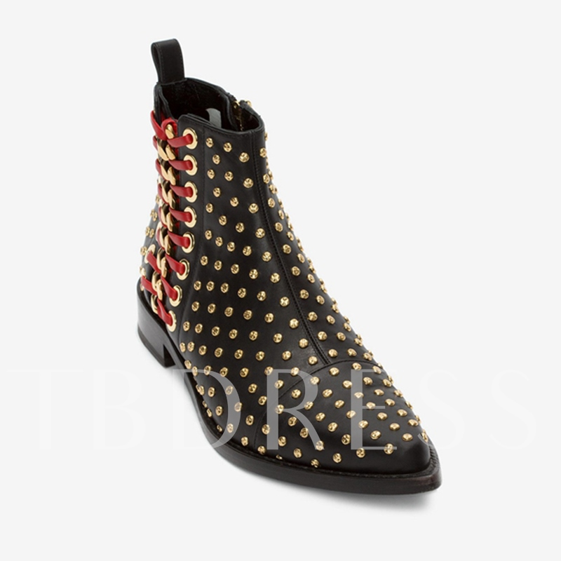 Black Ankle Boots with Rivrt Women's Leather Shoes