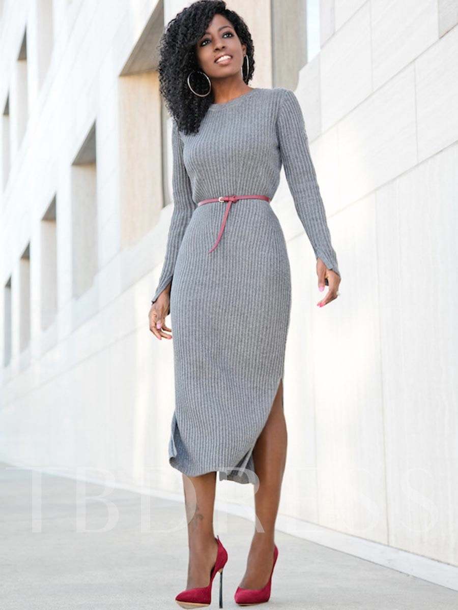 Greylady S Hearth February 2014: Gray Splits Women's Sweater Dress