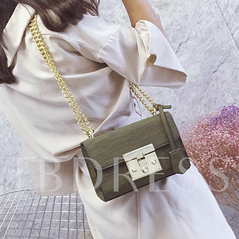 Casual Latch Decoration Chain Cross Body Bag