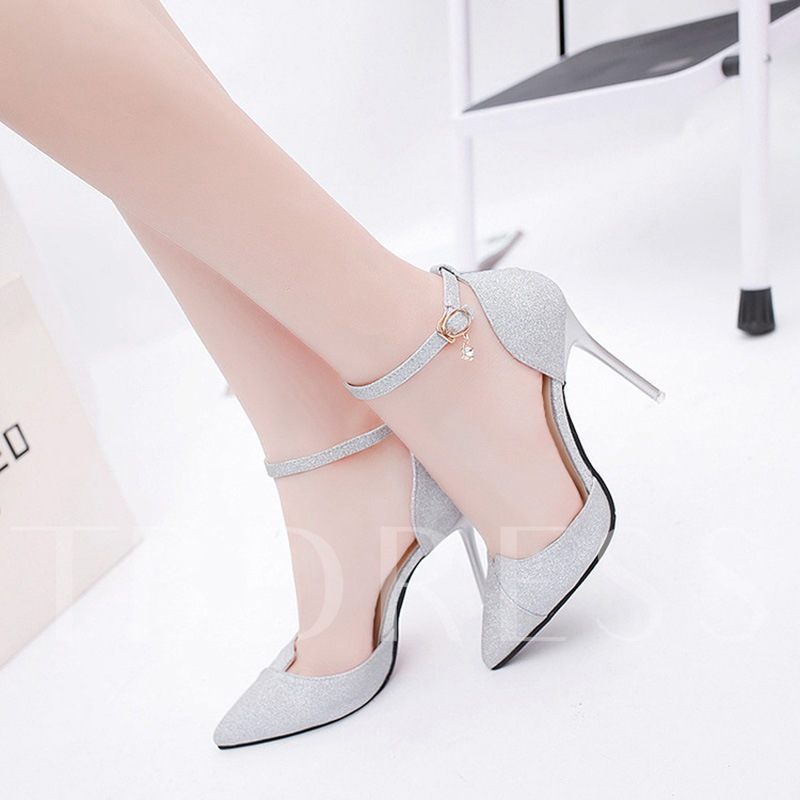 Women's Dress Shoes Glitter Rhinestone High Heels