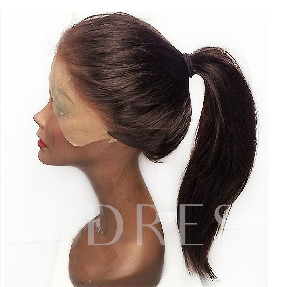 Long Straight Natural Black Women Synthetic Hair Wigs Capless 22 Inches
