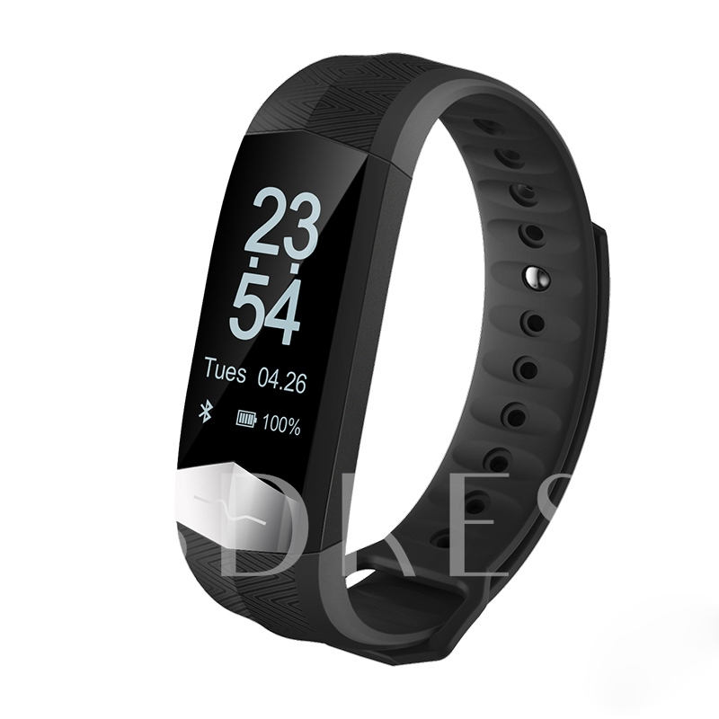 CD01 Bluetooth Smart Watch Bracelet Water Resistant Heart Rate Monitor Support ECG+PPG