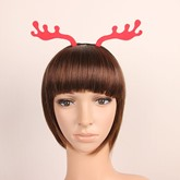 Deer Antlers Red Cloth Christmas Hair Accessories