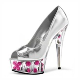 Peep Toe Hollow Sole with Floral Women's Wedding Shoes