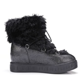 Plus Size Shoes Height Increasing Heel Plush Snow Boots