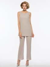 Loose 3 Pieces Mother of the Bride Pantsuits
