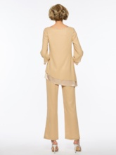2 Pieces Mother of the Bride Pantsuits with Long Sleeve