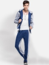 Hoodie Color Block Patchwork Winter Men's Outfit