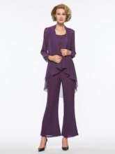 Formal 3 Pieces Mother of the Bride Pantsuits with Long Sleeve
