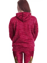 Sequins Decorate Hooded Pullover Women's Classy Christmas Tree Hoodie