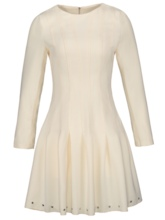 Champagne Rivets Decorated Women's Day Dress
