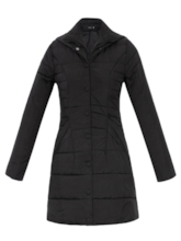 Slim Prain Turtleneck Hooded Long Women's Overcoat