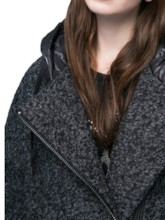 Solid Color Hooded Long Sleeve Zippered Women's Hoodie